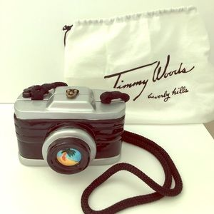 NWT Timmy Woods hand painted camera purse 💝